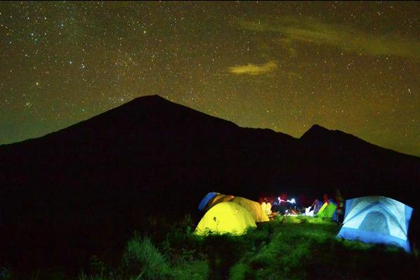 hillside camping