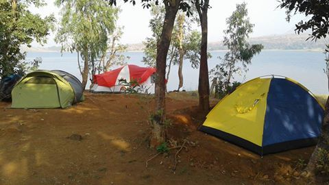 tents at the island