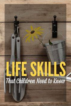 Life skills that children need to know